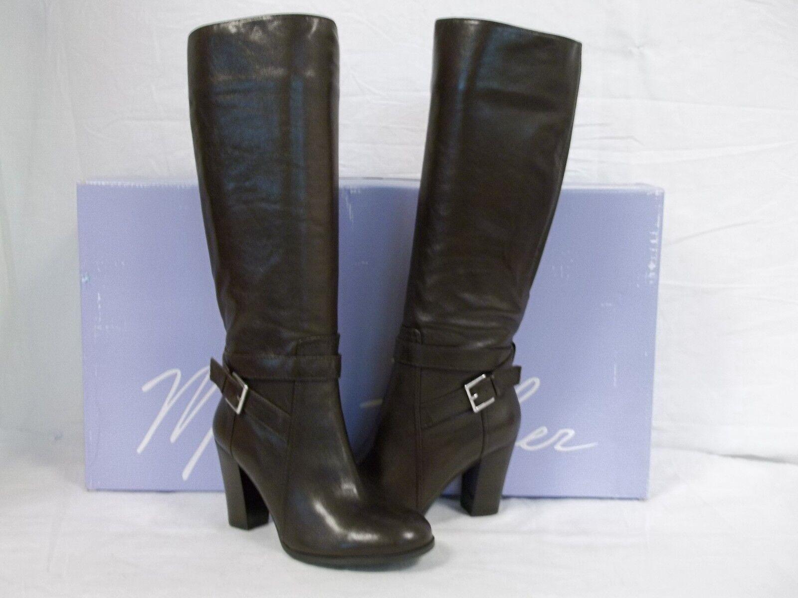 Marc Fisher Sz 5 M Kessler Dark Braun Leder Knee High Stiefel NEU Damenschuhe Schuhes