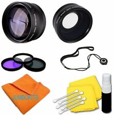 55MM  Wide Angle Lens MACRO + UV CPL FLD FILTER KIT FOR SONY ALPHA A200 A30