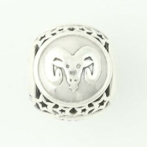 ca27dbf63 Image is loading NEW-Authentic-Pandora-Aries-Star-Sign-Charm-Sterling-