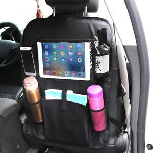 Car Seat Back Organiser Tablet Holder Protector Bottle Toy Kick Mat Storage New