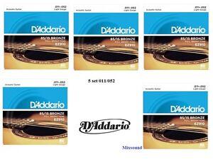 OFFERTA-5-SET-MUTA-CORDE-D-039-ADDARIO-EZ910-Bronze-011-052-CHITARRA-ACUSTICA-FOLK