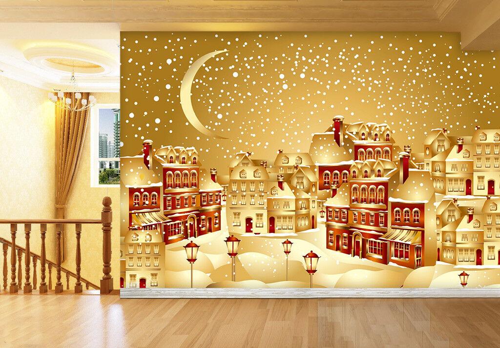 3D golden House 725 Wallpaper Murals Wall Print Wallpaper Mural AJ WALLPAPER UK
