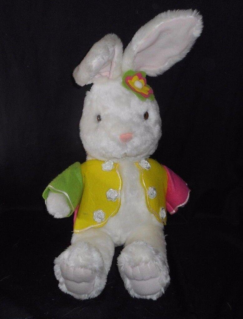 20   Groß Vintage Kolden Spielsachen Weiß Kaninchen Plüschtier Spielzeug Antik  | Attraktive Mode