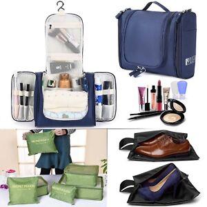 db261b045710 Details about Large Travel Toiletry Bag Heavy Duty Waterproof Women's  Makeup Men's Shaving Kit
