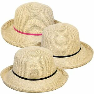 Image is loading Straw-Style-Cloche-Summer-Hat 4c85c1e042c