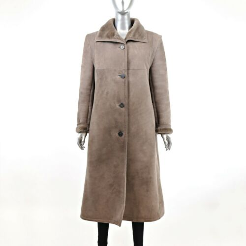 Full Length Shearling Coat- Size M-L (Vintage Fur… - image 1