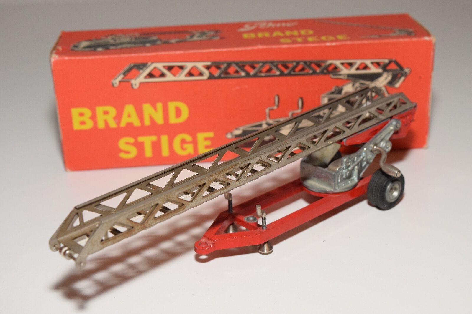 .. TEKNO DENMARK 409 BRANDSTEGE LADDER TRAILER FIRE EXCELLENT BOXED