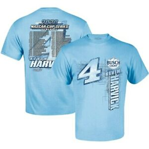 Kevin-Harvick-Stewart-Haas-Racing-Team-Collection-2020-Schedule-T-Shirt-Blue