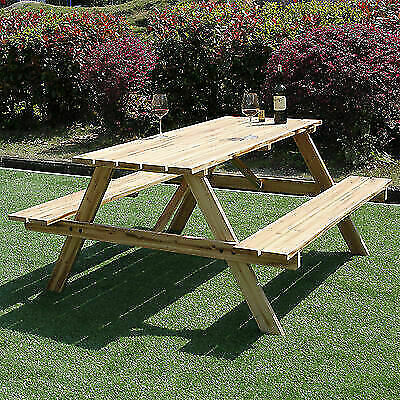 Excellent 6 Seater Outdoor Garden Picnic Bench 5Ft Pub Style Seating Table Heavy Duty For Sale Online Ebay Gmtry Best Dining Table And Chair Ideas Images Gmtryco
