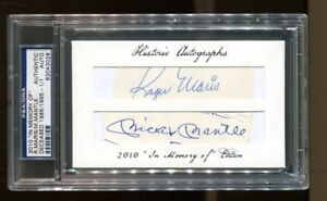 Roger-Maris-Mickey-Mantle-Signed-2010-Historic-034-In-Memory-Of-034-1-1-Auto-PSA-DNA