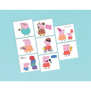 Peppa-Pig-Party-Favour-Temporary-Tattoo-039-s-8pk-Peppa-Pig-Party-Supplies