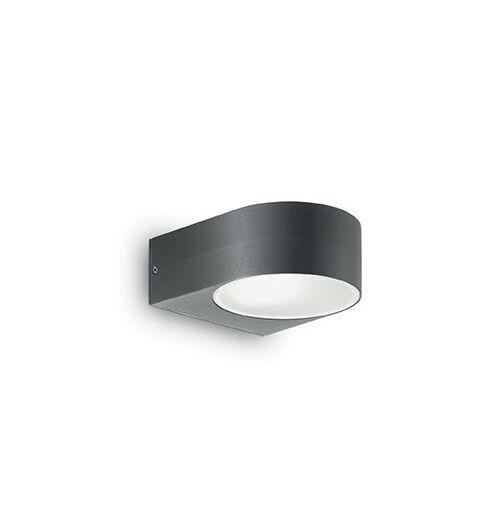 IDEAL LUX IKO AP1 ANTRACITE, applique da esterno moderno lampada per esterno