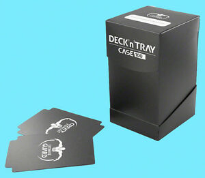 ULTIMATE-GUARD-DECK-n-TRAY-BLACK-100-CASE-Standard-Size-Dividers-MTG-Card-Box