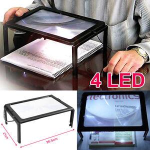 Riesen-Gross-Handfrei-Lupe-mit-LED-Licht-Lupe-zum-Lesen-x000D-x000D-x000D-GY