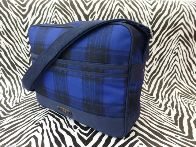 FRED PERRY Shoulder Bag CHECK Airliner Navy Multi Messenger Body Bag BNWT RRP£55