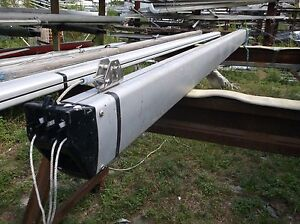 Details about 12 foot 9 inch Sailboat Boom with Complete 4 Sheave Outhaul  Assembly