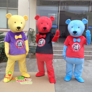 d728bbcaa1a6d Details about Halloween Bear Mascot Costume Cosplay Party Game Dress  Outfits Adult Size Suit @