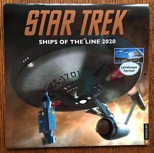 Signed-Star-Trek-Ships-of-the-Line-2020-Wall-Calendar-Plus-1996-Phoenix-Poster