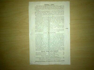 Costante Linea Di Galleggiamento Modelli General Foglio Di Istruzioni-mostra Il Titolo Originale