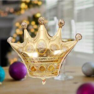 Gold-Crown-Foil-Helium-Balloon-Princess-Birthday-Party-Wedding-Decoration-US-KX