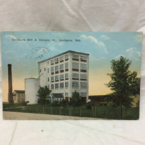 Vintage-Postcard-Lexington-Nebraska-Mill-amp-Elevator-Co-Scene-Advertising-1922