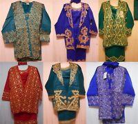 New Women's African Skirt Set 4 pieces w/headpiece Suit Dashiki Attire Plus Size
