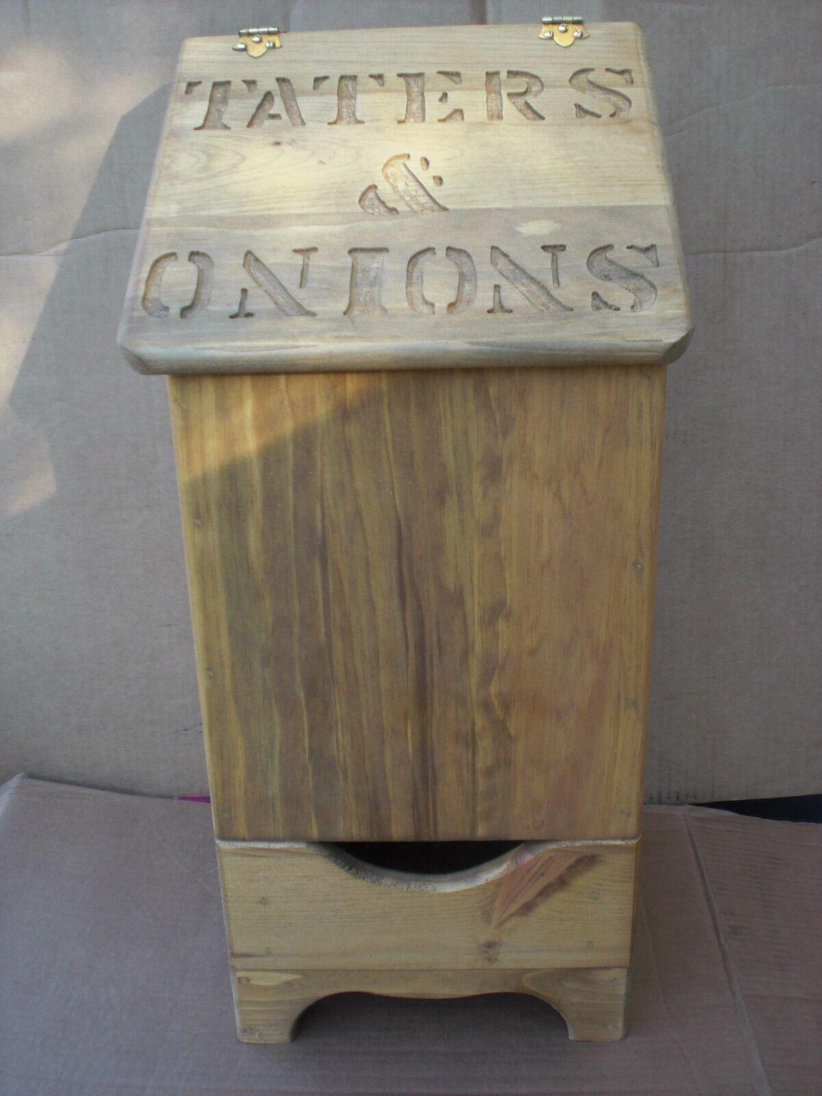 Tater et oignon Bin petite taille grosses lettres avec bas design