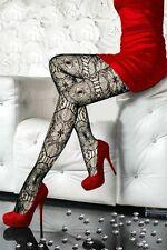 Black Sheer Stockings Floral Evil Eye Lolita Tights Pantyhose Fishnet Design OS