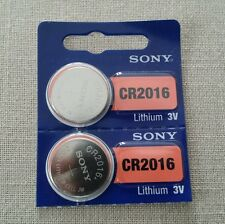 2x CR2016 3V SONY COIN BATTERIES for 2004-2011 Toyota CAR KEYLESS REMOTE KEY FOB