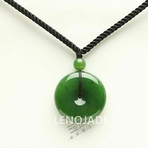 Chinese natural green hetian nephrite jade pendant circle 101016 ebay chinese natural green hetian nephrite jade pendant circle aloadofball Image collections