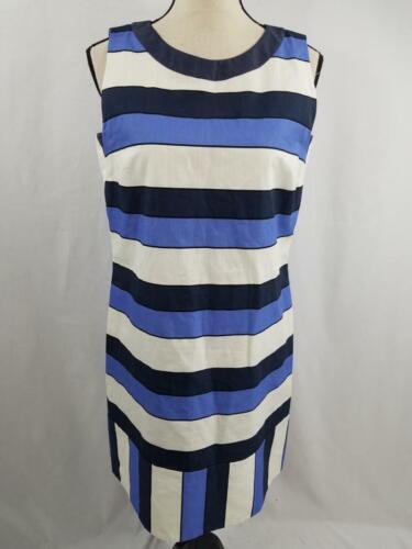 Piazza Sempione Womens 42 Cotton Linen Blue Stripe