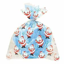 100 Christmas Cellophane Cello Party Sweet Loot Bags 5Packs of 20