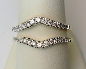 image is loading solitaire enhancer diamond ring guard wrap yellow gold - Wedding Ring Enhancer