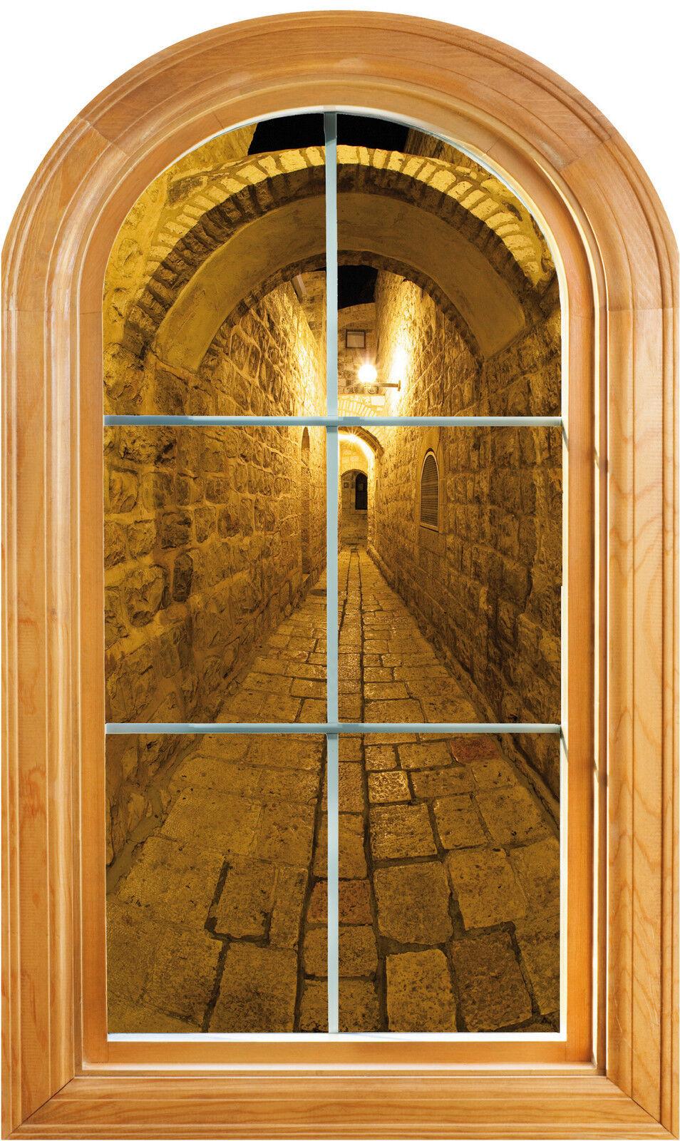 Aufkleber Fenster Gewölbe- Schein Auge Deko Straße Ref 611