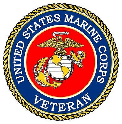 United States Marine Corps Veteran Window Decal Bumper Sticker USMC NEW