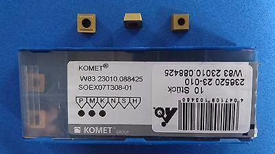 10 Stück Komet Wendeschneidplatten W83 32130.088425 SOEX090408-13 BK8425  #46