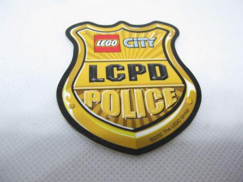 LEGO CITY POLICE relative Autocollant Badge 3D Or Brillant 6.5 cm de haut en bas