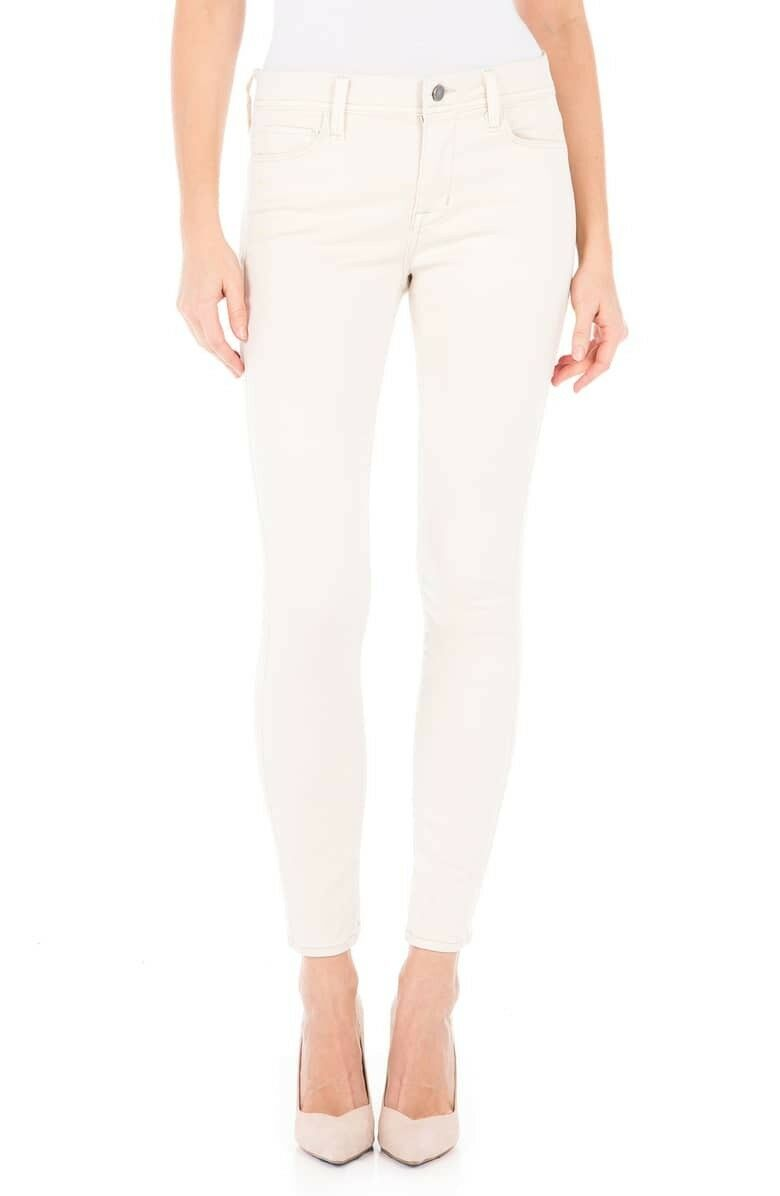 NWT Nordstrom Sola Mid-Rise Jeans in White Rabbit by Fidelity, Size  29