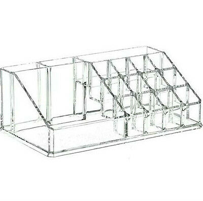 Clear Acrylic Lipstick Holder Jewelry Display Storage Makeup Cosmetic Organizer