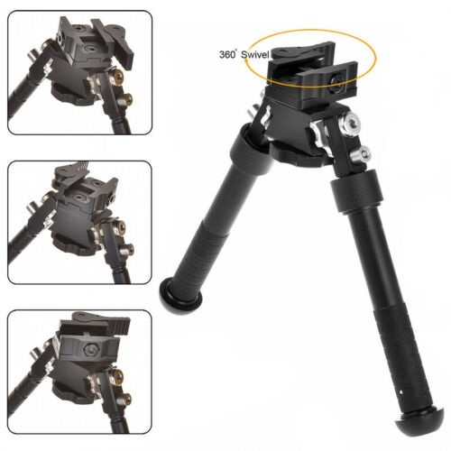 "Rifle Bipod 4.75-9/"" Foldable QD Picatinny Rail Mount V8 Adjustable Biopod"