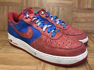 nowe obrazy tania wyprzedaż usa super słodki Details about RARE🔥 Nike Air Force One 1 Low Photo Blue Hyper Red  SPlDERMAN Sz 12 488298-412