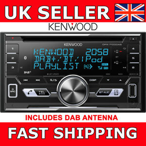 Kenwood-DPX7100DAB-Double-Din-Car-CD-Stereo-Bluetooth-USB-iPod-iPhone-DAB-Aerial