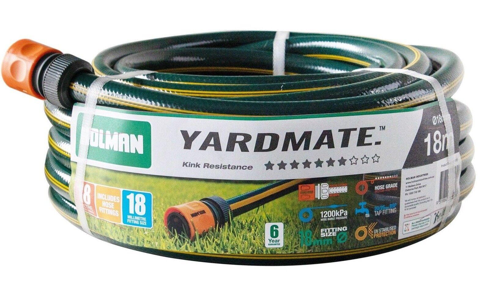 Holman YARDMATE GARDEN HOSE With Fittings *Aust Brand- 18mmx18m Or 18mmx30m