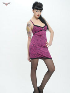 Image Is Loading Queen Of Darkness Pink Leopard Print Dress Punk