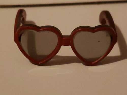 BARBIE BIG RED HEART SHAPED SUNGLASSES DOLL ACCESSORY