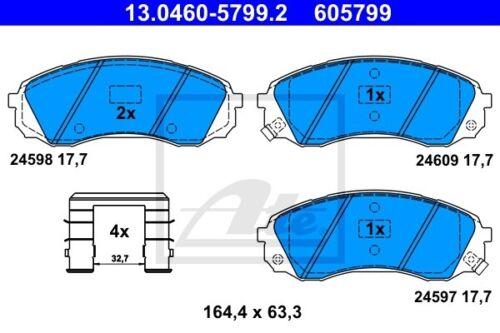 ATE Bremsbelagsatz Scheibenbremse 13.0460-5799.2 für CARNIVAL KIA HYUNDAI GRAND