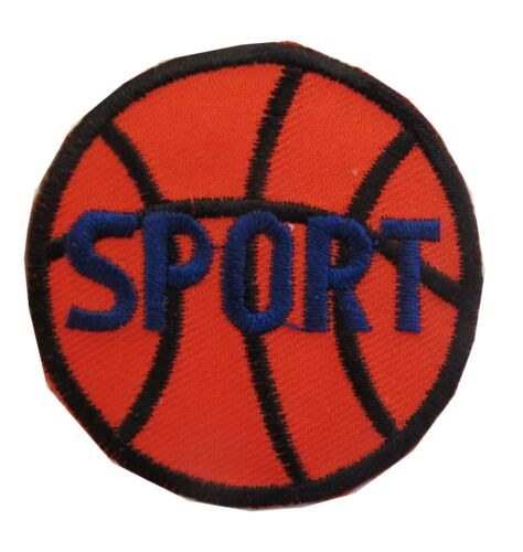 """#3882 2/"""" Basketball w//SPORT word Embroidery Iron On Applique Patch"""