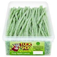 Tuck Shop Sweets Fizzy Apple Lances - Tub of 200 - Party Bag Fillers Wed Favors