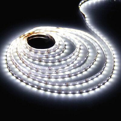 16.4ft 2835 White 300 LED Strip Light Flexible Lamp DC 12V