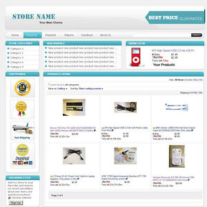 Baby Blue EBay Professional Design Listing Template And Store - Professional ebay listing templates